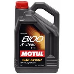 OLEJ MOT.5W/40 MOTUL 8100 X-CLEAN C3 5L