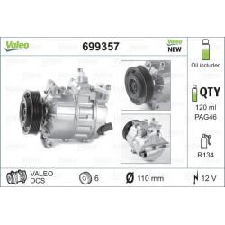 Kompresor klimatizácie VALEO - AUDI,SEAT,ŠKODA,VW